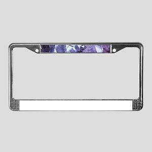 Amethyst Crystal Cluster License Plate Frame