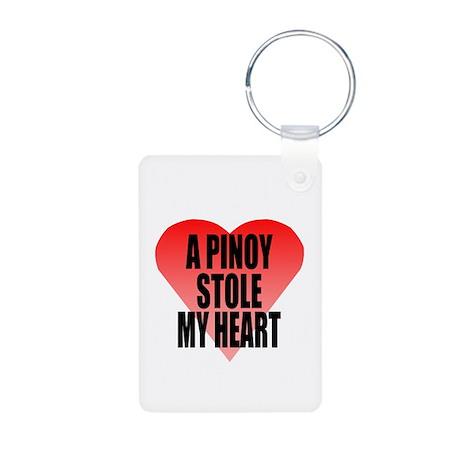 Pinoy Stole My Heart Aluminum Photo Keychain