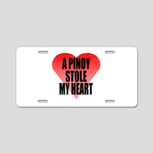Pinoy Stole My Heart Aluminum License Plate