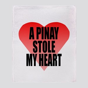 Pinay Stole My Heart Throw Blanket