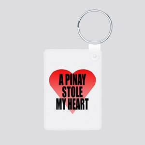 Pinay Stole My Heart Aluminum Photo Keychain