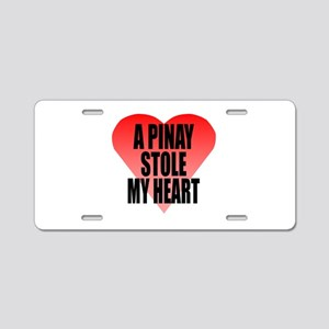 Pinay Stole My Heart Aluminum License Plate