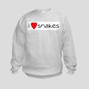 i love snakes Kids Sweatshirt