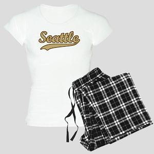 retro Seattle Women's Light Pajamas
