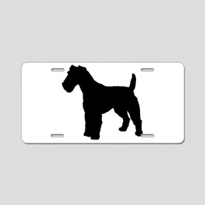 Fox Terrier Silhouette Aluminum License Plate