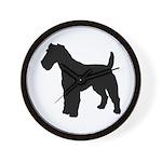 Fox Terrier Silhouette Wall Clock