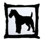 Fox Terrier Silhouette Throw Pillow