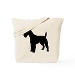 Fox Terrier Silhouette Tote Bag