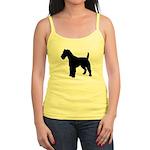 Fox Terrier Silhouette Jr. Spaghetti Tank