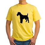 Fox Terrier Silhouette Yellow T-Shirt