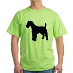 Fox Terrier Silhouette Green T-Shirt