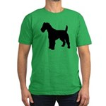 Fox Terrier Silhouette Men's Fitted T-Shirt (dark)