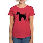 Fox Terrier Silhouette Women's Dark T-Shirt