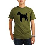 Fox Terrier Silhouette Organic Men's T-Shirt (dark