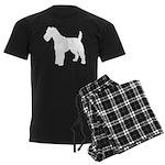 Fox Terrier Silhouette Men's Dark Pajamas