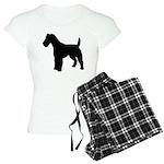 Fox Terrier Silhouette Women's Light Pajamas