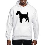 Fox Terrier Silhouette Hooded Sweatshirt