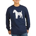 Fox Terrier Silhouette Long Sleeve Dark T-Shirt