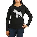 Fox Terrier Silhouette Women's Long Sleeve Dark T-