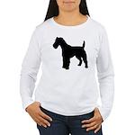 Fox Terrier Silhouette Women's Long Sleeve T-Shirt