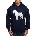 Fox Terrier Silhouette Hoodie (dark)