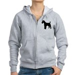 Fox Terrier Silhouette Women's Zip Hoodie