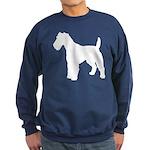 Fox Terrier Silhouette Sweatshirt (dark)