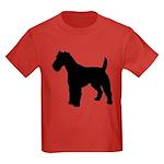 Fox Terrier Silhouette Kids Dark T-Shirt
