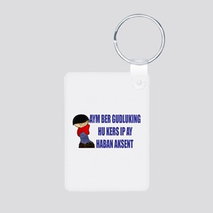 Aym Ber Gudluking Aluminum Photo Keychain