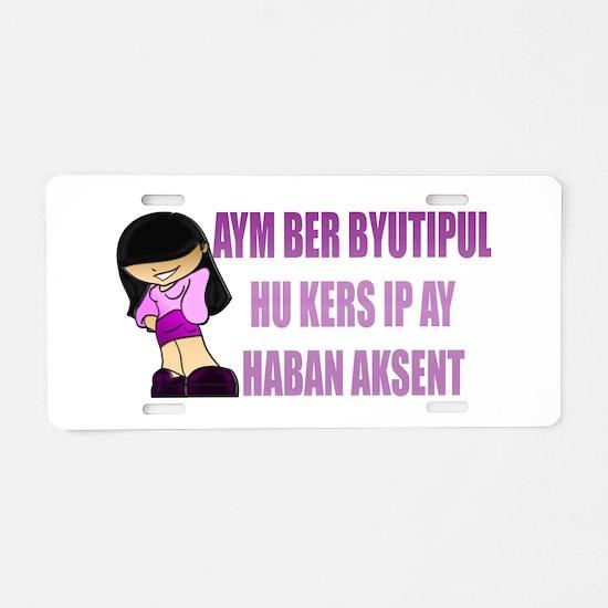 Aym Ber Byutipul Aluminum License Plate