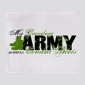 Grandma Combat Boots - ARMY Throw Blanket