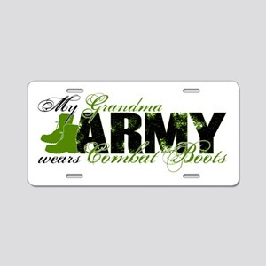 Grandma Combat Boots - ARMY Aluminum License Plate