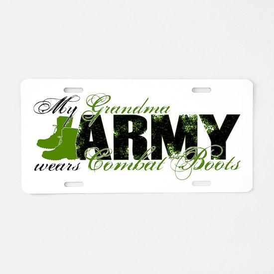 Grandma Combat Boots - ARMY Aluminum License Plate
