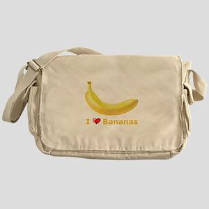 I Love Banana Messenger Bag