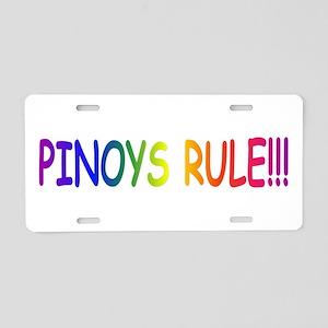 Pinoys Rule Aluminum License Plate