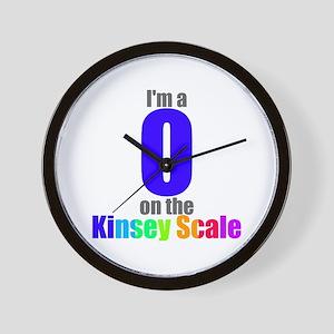 Kinsey Scale 0 Wall Clock