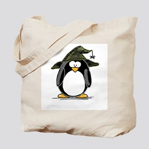Witch penguin Tote Bag