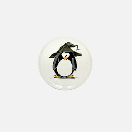 Witch penguin Mini Button