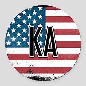 Kappa Alpha Order Flag Round Car Magnet