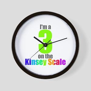 Kinsey Scale 3 Wall Clock