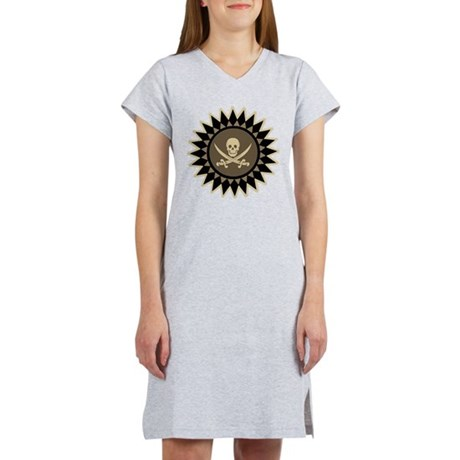 Stylized Pirate Symbol Women's Nightshirt