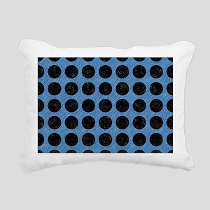 CIRCLES1 BLACK MARBLE & Rectangular Canvas Pillow