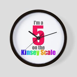 Kinsey Scale 5 Wall Clock
