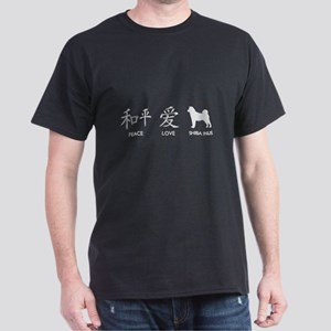 Japanese Peace, Love, Shibas Dark T-Shirt