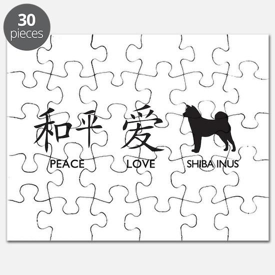 Japanese Peace, Love, Shibas Puzzle