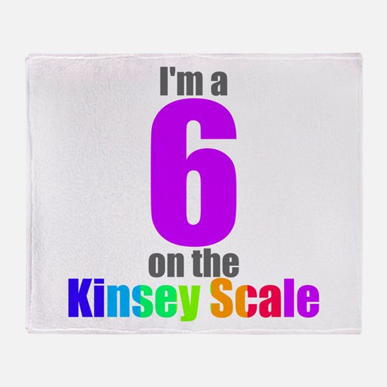 Kinsey Scale 6 Throw Blanket