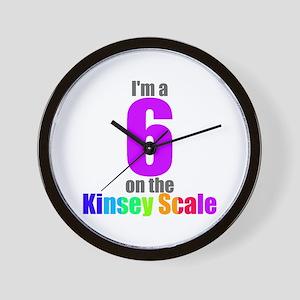Kinsey Scale 6 Wall Clock