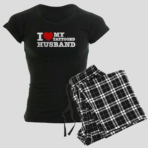 I love my Tattooed Husband Women's Dark Pajamas