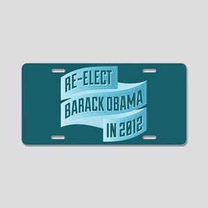 Bendy Re-Elect Obama Banneris Aluminum License Pla
