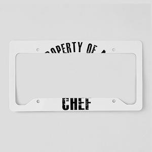 Chef designs License Plate Holder